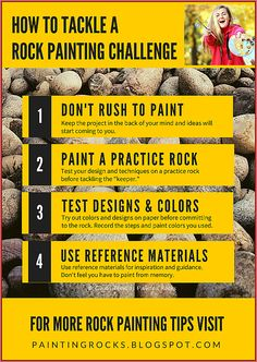 Have you been asked to paint a complex or challenging design on a rock? Try these tips.