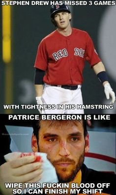 Stephan Drew vs Patrice Bergeron Boston Red Sox Boston Bruins