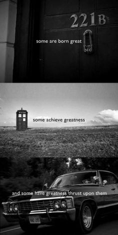 *Some are born great* Sherlock, Doctor Who, and Supernatural + Shakespeare = nerdgasm