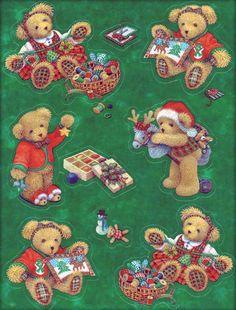 Hallmark Christmas stickers - teddy bears