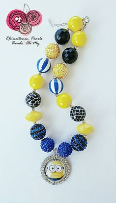 Hey, I found this really awesome Etsy listing at https://www.etsy.com/listing/292823567/minion-bubble-gum-necklace-despicable-me