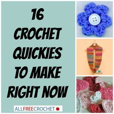 Need a quick project? Check out these simple free crochet patterns that are super fast! ༺✿ƬⱤღ http://www.pinterest.com/teretegui/✿༻