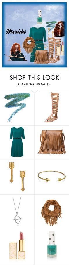 """Modern Day Merida From Brave"" by manateelover42127 on Polyvore featuring Manic Panic, Sam Edelman, Kaliko, Catherine Weitzman, Bling Jewelry, BERRICLE, Tory Burch, Merida, Topshop and modern"