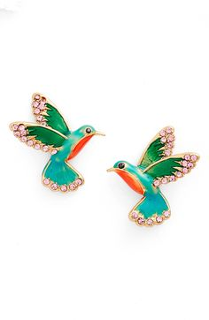 kate spade hummingbird stud earrings