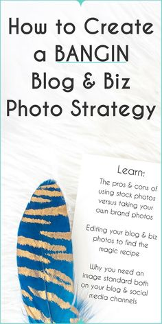 """How to Create a BANGIN' Blog & Biz Photo Strategy   Learn free:  ➔   Why you need an image standard for your blog + biz  ➔   A no-fail approach to create images your audience wants to see  ➔   The pros and cons of using stock photos vs. taking your own  ➔   The """"magic-recipe"""" for photo-editing and defining your brand style  Plus, grab 10 free stock images as a thank you!"""