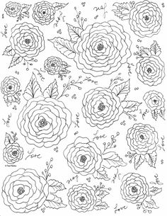 Roses coloring page Rose Coloring Pages, Leaf Coloring Page, Coloring Pages For Grown Ups, Abstract Coloring Pages, Spring Coloring Pages, Pattern Coloring Pages, Printable Adult Coloring Pages, Disney Coloring Pages, Mandala Coloring Pages