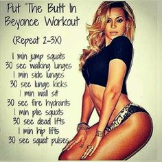 Beyonce Butt Workout...INTENSE maybe one day i can manage this lol  http://30dayfitnesschallenges.com/classes/30-day-bum-challenge/