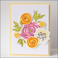 Overnight Waffles: Beautiful Brushstrokes: Two Cards