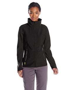 LOLE Women's Daylight Jacket Reflective fabric inserts, tapes and prints Center-front zipper and two zippered hand pockets Stand-up collar with stowable hood Printed lush inserts for comfort and breathability Length: 27 inches Vest Jacket, Hooded Jacket, Outdoor Woman, Outdoor Outfit, Jackets Online, Black Media, Coats For Women, Organic Cotton