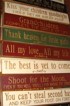 signs for home  Would love these in the guest room
