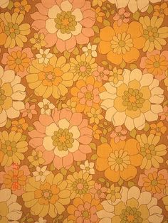 Shared by ☆ れどんど ☆. Find images and videos about art, retro and orange on We Heart It - the app to get lost in what you love. Hippie Wallpaper, Retro Wallpaper, Iphone Wallpaper, Vintage Wallpaper Patterns, Wallpaper Designs, Retro Kunst, Retro Art, 60s Art, Photo Wall Collage