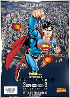 Decadance Superheroes Edition: Superman in Beirut  Poster Design by Kaleido