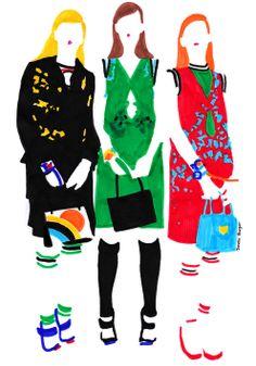 Modeconnect.com - Fashion Illustrations by Janelle Burger