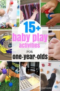 The best baby activities for 1-year-olds. On this list is Reggio, loose parts, sensory based learning, and some of the most fun baby toys. Use this list with your one-year-old, 16 months, 18, month and up to 24 months. #baby #babyboy #babyboy #toddler #toddlerlife #reggio #looseparts #oneyearold #12months #16months #babyactivities #sahm