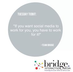 There's no shortcuts in social media!  You have to put the work in.  If you want to build a loyal following you have to curate content that's interesting, and make sure your presentation is professional...that takes time.  If your wondering why your social media efforts aren't yielding the expected results, ask yourself:  How much time am I investing in my social media strategy?  #BIMTuesdayTidbits #marketing #branding #creativity #timeismoney #Connectwithyourclients #BridgeInteractiveMedia