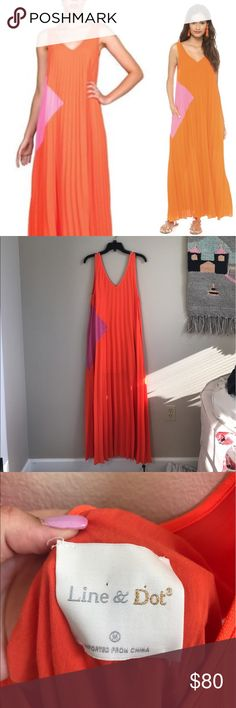 LINE&DOT COLORBLOCK MAXI Worn once for blog pictures! Love this dress but I just don't wear it like I should! One small spot on the dress but will likely come out after wash or dry cleaning! Line & Dot Dresses Maxi