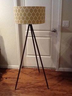 Wooden Base Floor Lamp