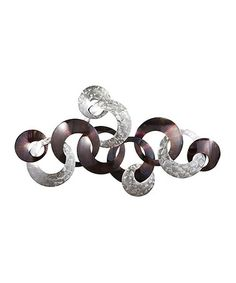 Imagine bringing home an upscale art gallery look at a price just your style. the beauty of this wall sculpture. Its abstract design of interlocking metal rings is a cool hook for Canvas Wall Decor, Metal Wall Decor, Home Wall Decor, Purple Wall Art, Purple Walls, Art Over Bed, Purple Home Decor, Circle Crafts, Wall Sculptures