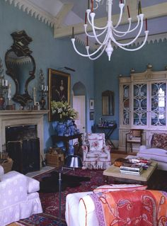 William Yeoward The World of Interiors Simon Upton--this room is gorgeous in Yeoward's book too seen in brighter light