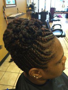 Flattwist and pin curls  Natural hair updo