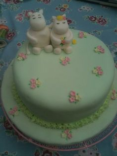 Moomin cake I made Moomin, Lily, Cakes, Desserts, Food, Tailgate Desserts, Deserts, Cake Makers, Kuchen