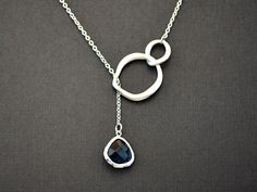 20 off SALE  White gold plated twisted double circle by LilliDolli, $22.00
