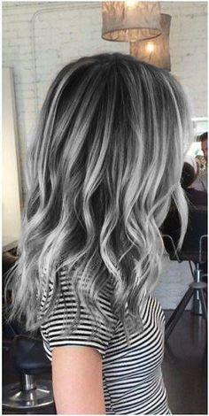 Gray hair granny hair