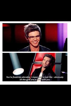 Thank you Adam that's 100% true love Mackenzie Bourg! His hair is way better now though!!!