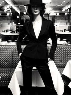 hat; suit