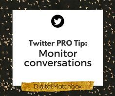 Twitter PRO Tip: Monitor conversationsKeep an eye on what people are saying. Don't forget that Twitter, like any other virtual conversation, is a two-way street. Pay attention to what other members are saying, and see if they're Twittering about you. If they are, you might want to use that as an opportunity to either thank them for a nice compliment, or to make good if they are posting a complaint. Remember that you're never 100% safe from someone who might try to talk negatively about…