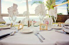 Table setup at St.Pete Beach, Grand Plaza Hotel. Presidential Ballroom Wedding