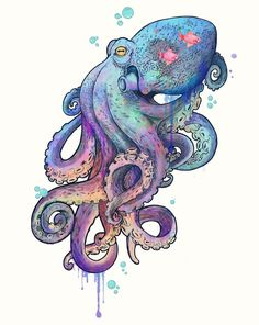 octopus, art, and sea afbeelding