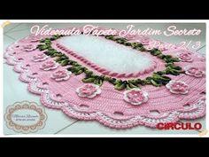 """Tapete Jardim Secreto - Parte 2/3 - """"Marcia Rezende - Arte em Crochê"""" - YouTube Crochet Bracelet, Crochet Earrings, Crochet Designs, Crochet Patterns, Diy And Crafts, Crafts For Kids, Crochet Table Runner, Crochet Videos, Crochet Home"""