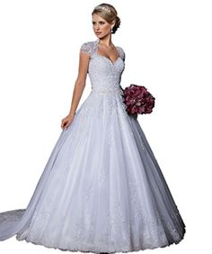 CoCoGirls Cap Sleeve Lace Bridal Dresses Open Back Weddin... https://www.amazon.com/dp/B01ALX6NV0/ref=cm_sw_r_pi_dp_x_7V44xbKNKDC21