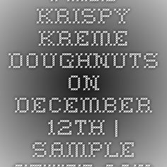 Free Krispy Kreme Doughnuts on December 12th | Sample Stuff.com