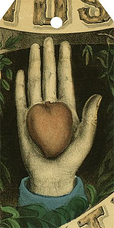 heart in hand gift tag by John Derian