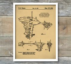 Star Wars Nebulon B Escort Frigate Patent, Star Wars Nebulon B Escort Frigate Poster, Star Wars Nebulon B Escort Frigate Print, P158 by NeueStudioArtPrints on Etsy