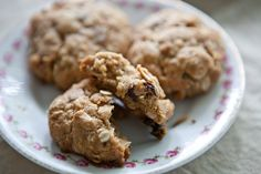 Coconut Oatmeal Cookies with Dried Cherries | A Sweet Spoonful