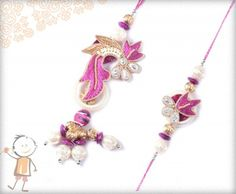 Bhaiya Bhabhi Rakhi, Rakhi Store: - Buy #Bhaiya #Bhabhi #Rakhi #Online On #Rakhi Festival 2015. BEAUTIFUL PURPLE PEARL ZARDOSI BHAIYA-BHABHI RAKHI, surprise your loved ones with roli chawal, chocolates and a greeting card as it is also a part of our package and that too without any extra charges. http://www.bablarakhi.com/send-family-rakhi-online/1166-send-beautiful-purple-pearl-zardosi-bhaiya-bhabhi-rakhi.html
