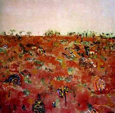 Landscape with Wattles (1969) _ Fred Williams