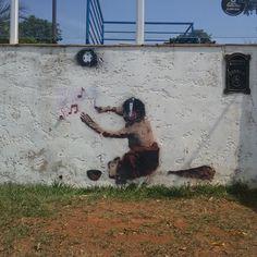Spunk Stencil #StreetArt