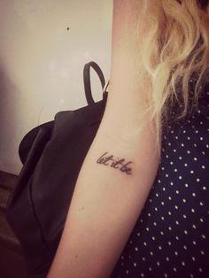 pretty 'let it be' tattoo