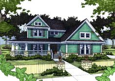 Farmhouse Delight - 16871WG | Country, Farmhouse, 1st Floor Master Suite, CAD Available, PDF, Wrap Around Porch, Corner Lot | Architectural Designs