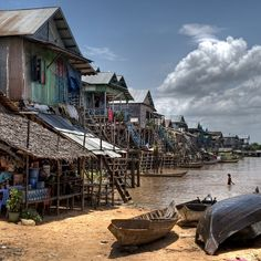 Tonle Sap Lake in Siem Reap, Cambodia