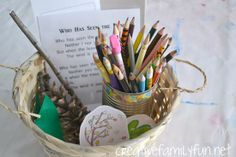 Poetry Basket for Creative Writing Fun ~ Creative Family Fun