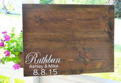 Rustic Guestbook, Rustic Guest book, Wood Guestbook, rustic wedding, guest book alternative, large guest book, Wood slab Guest Book by MintageDesigns on Etsy https://www.etsy.com/listing/235779414/rustic-guestbook-rustic-guest-book-wood