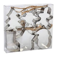 Picture of 6 Pack Cookie Cutter Ornament - Silver Gold Christmas Decorations, Christmas Ornaments, Silver Ornaments, At Home Store, Seasonal Decor, Cookie Cutters, Candle Holders, Candles, Spirit