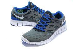 save off 0aeee bf773 Nike Free Run 2 Womens Cool Grey Varsity Royal Blue White 443815 003