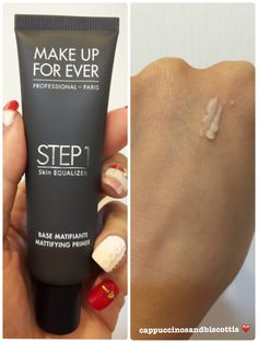 Make Up For Ever Step 1 Equalizer (Mattifying) Review  www.cappuccinosandbiscottis.com
