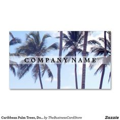 Palm trees dominican republic business card dominican republic caribbean palm trees dominican republic business card colourmoves